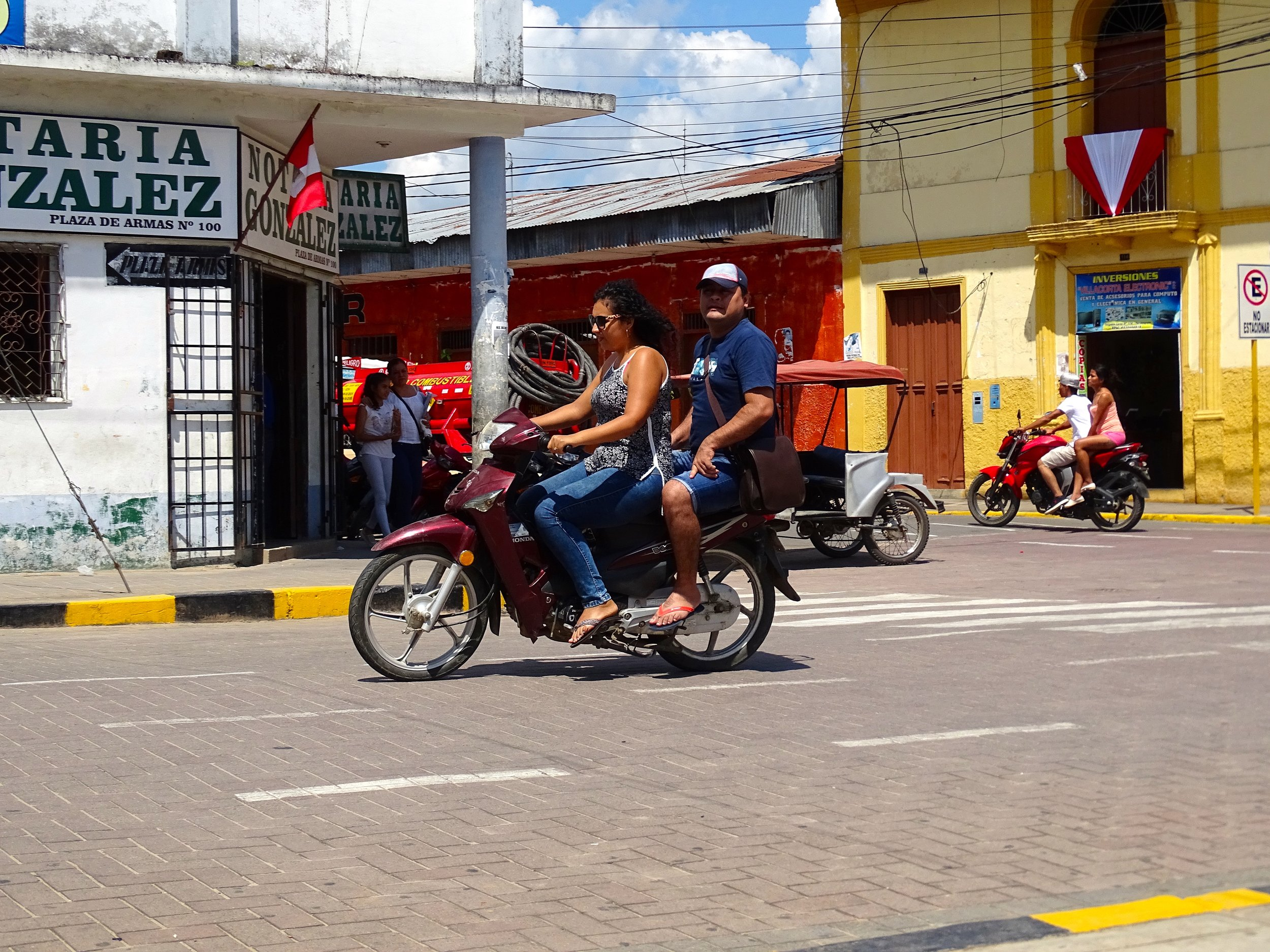 And in opposition to the machismo image, there seems to be no stigma attached to being the passenger and not the rider in control.