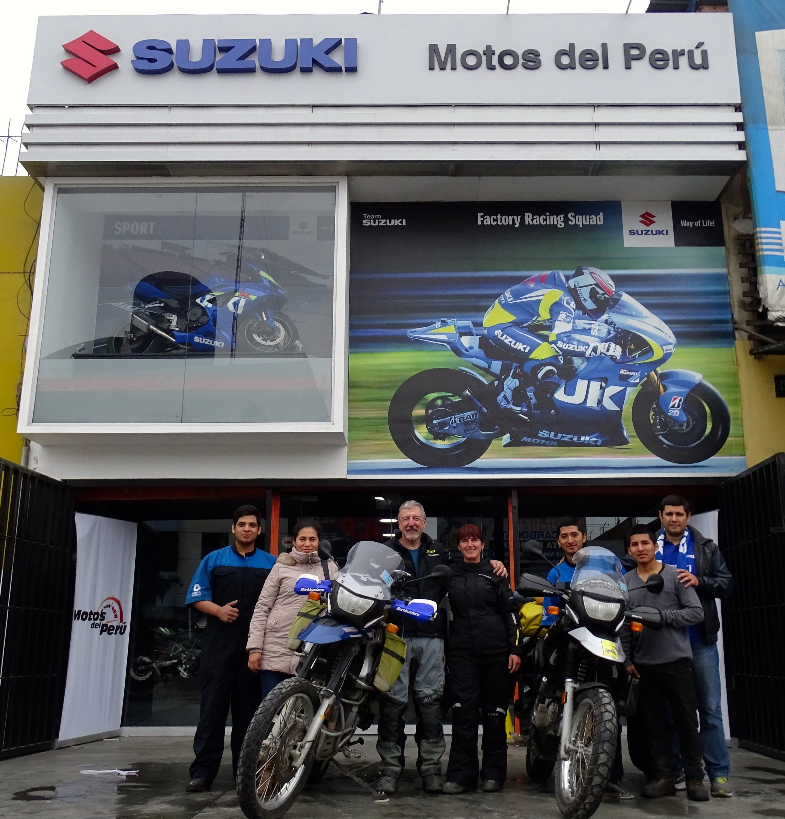 Felipe Miranda and Motos del Peru in Lima gave us an incredible amount of help maintaining the bikes and getting them in shape for the coming trip through southern Peru and Bolivia.