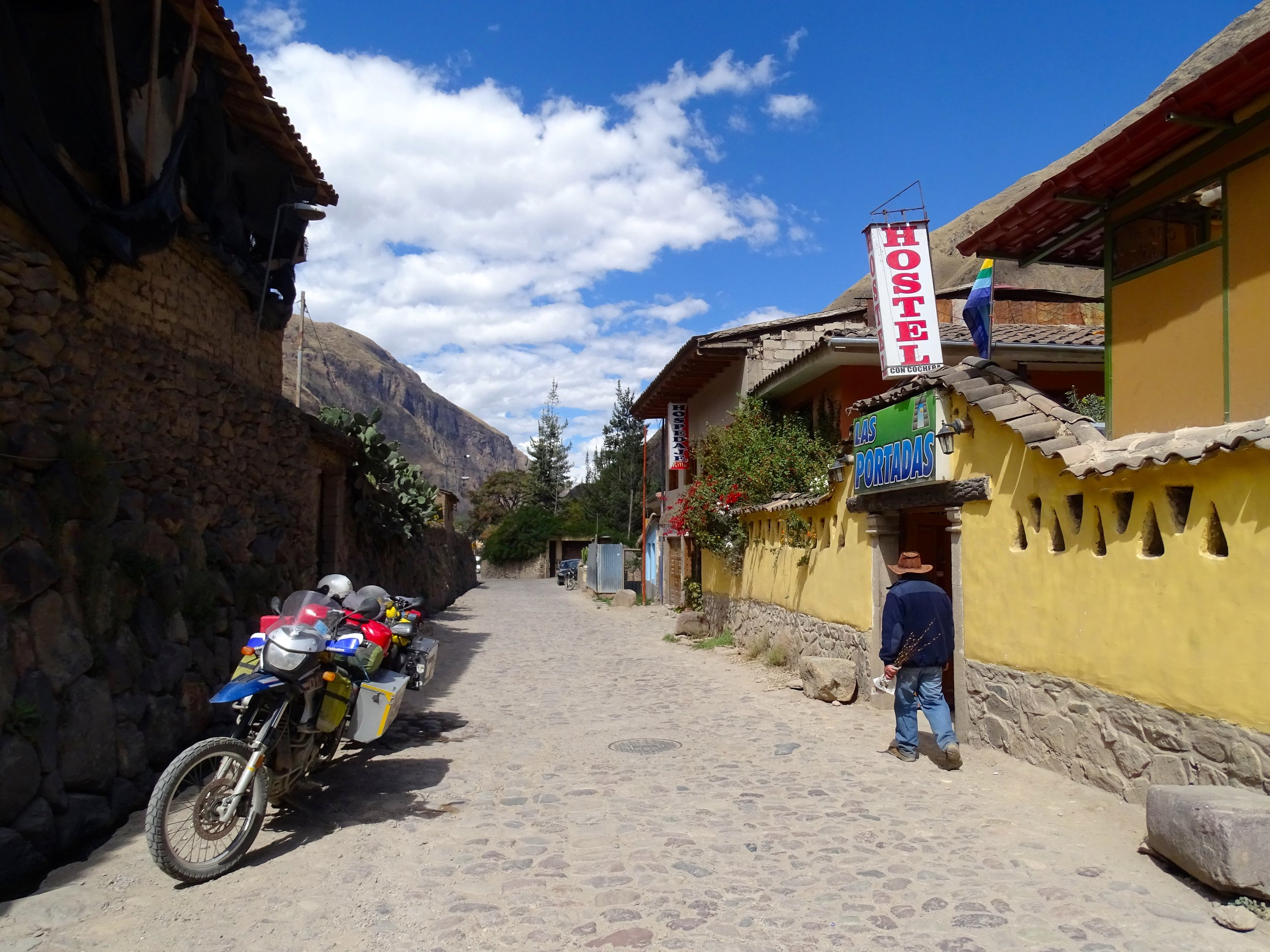 Outside our hostel in Ollantaytambo.