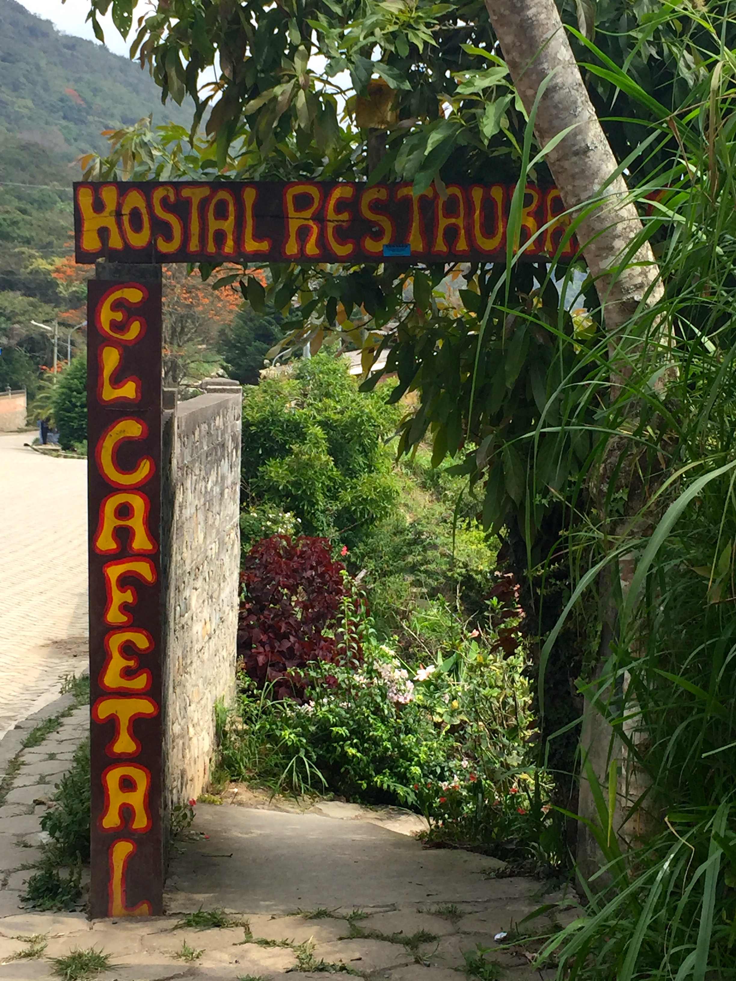 Our hostal entrance in Coroico.