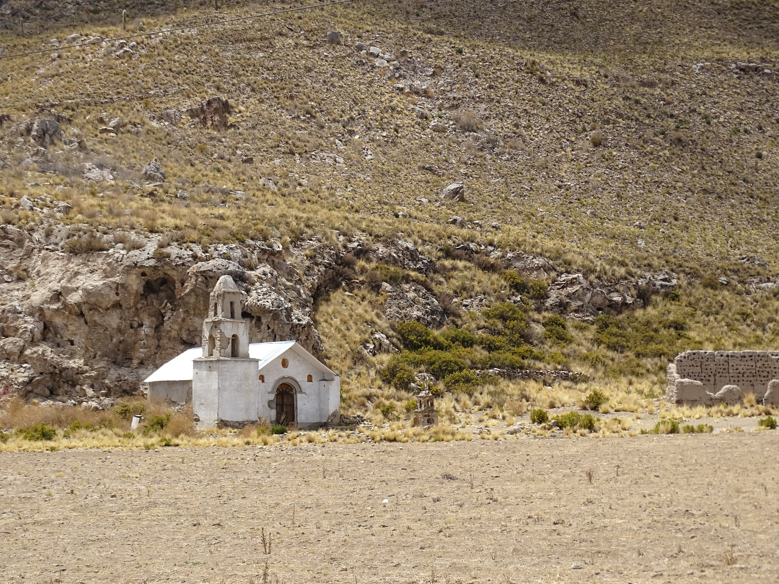 These images were all along the way through Bolivia.  History is all around you.