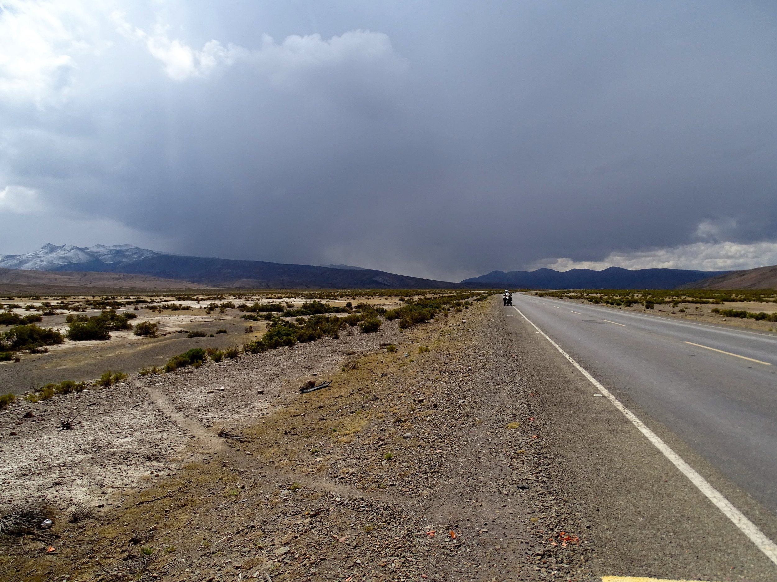Weather is serious business high on the Altiplano, especially when the road leaves it and heads back into the Andes.