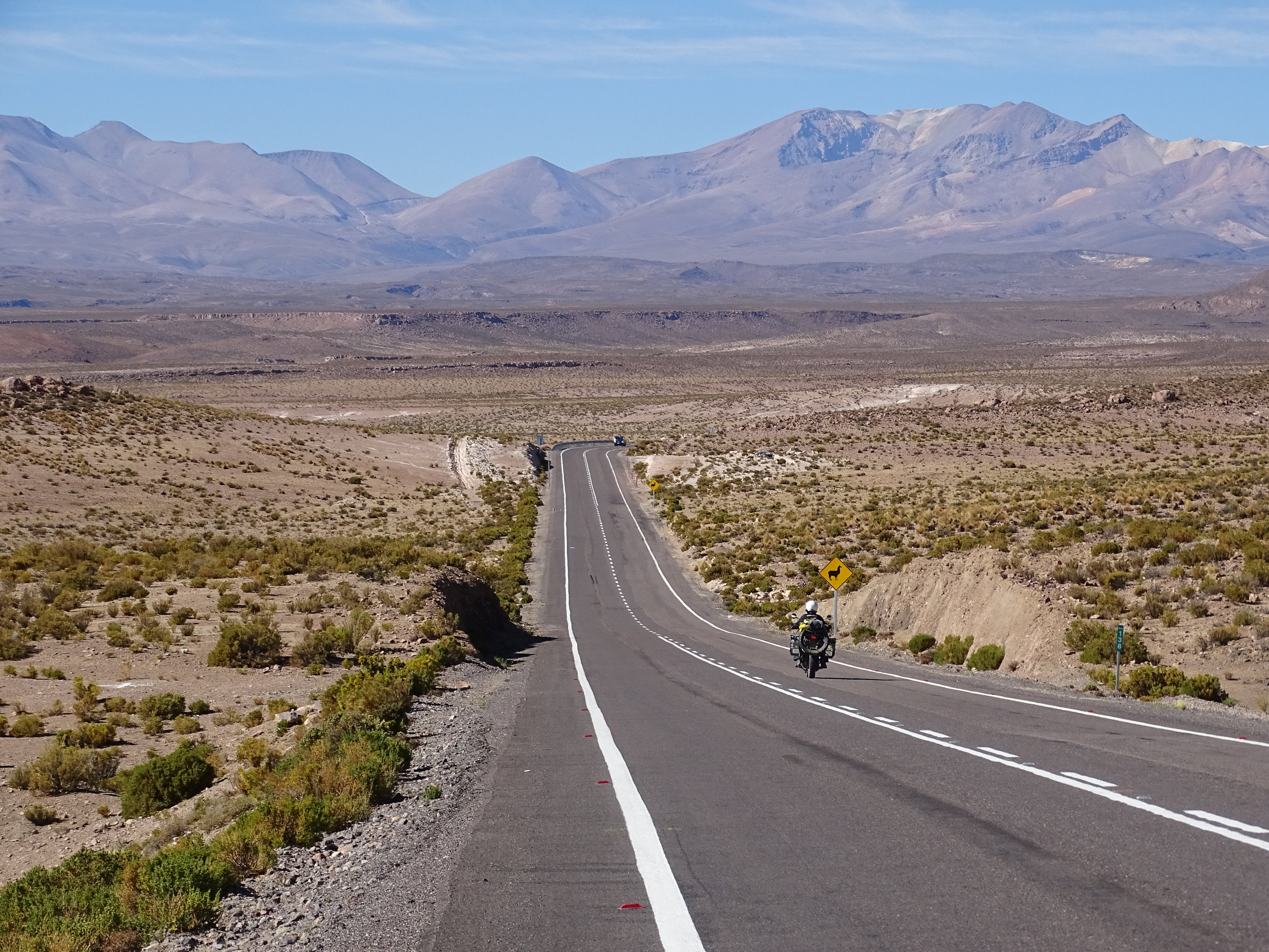 The paved roads in Chile are first class.