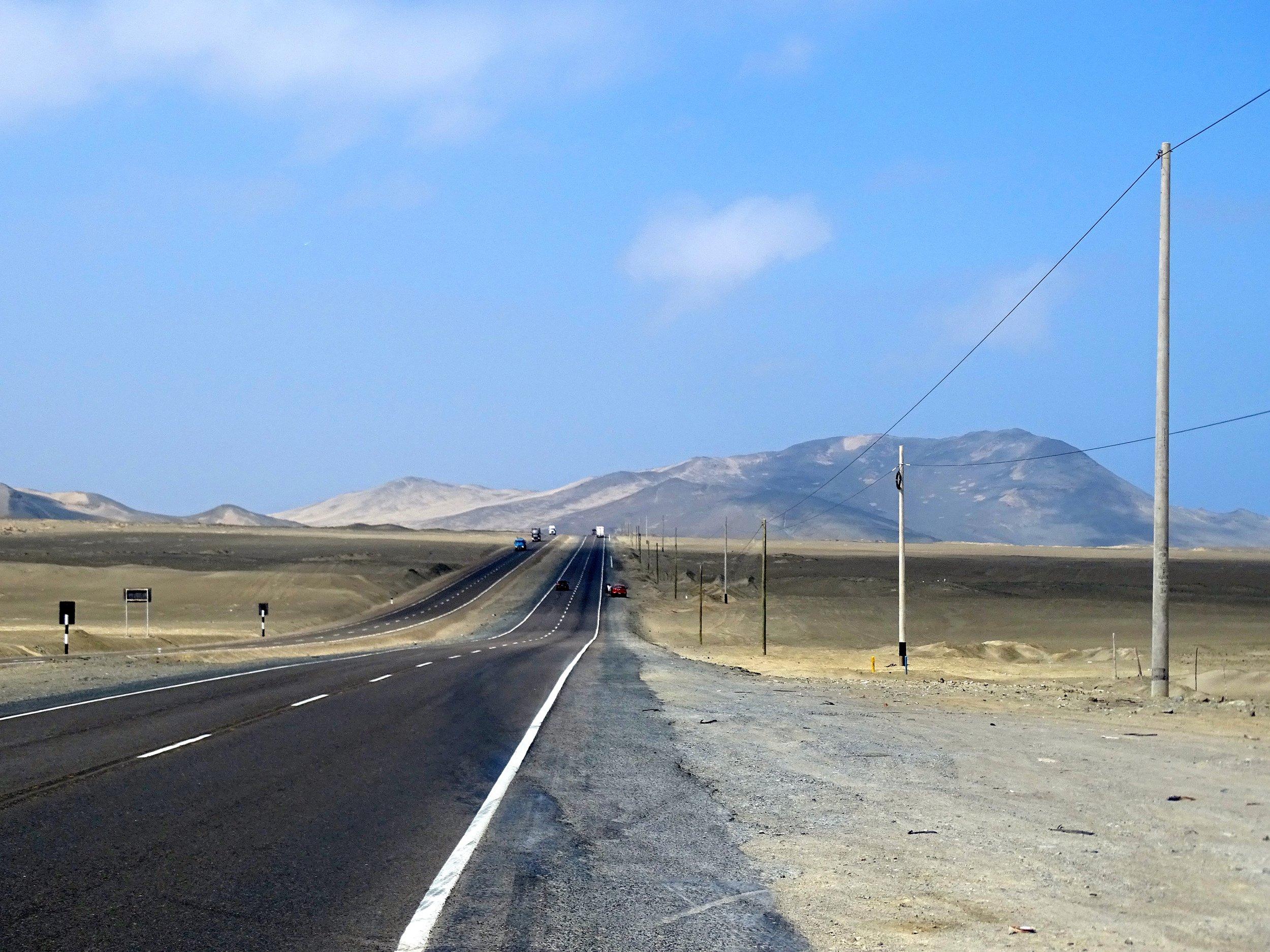 Dry, dry desert land.