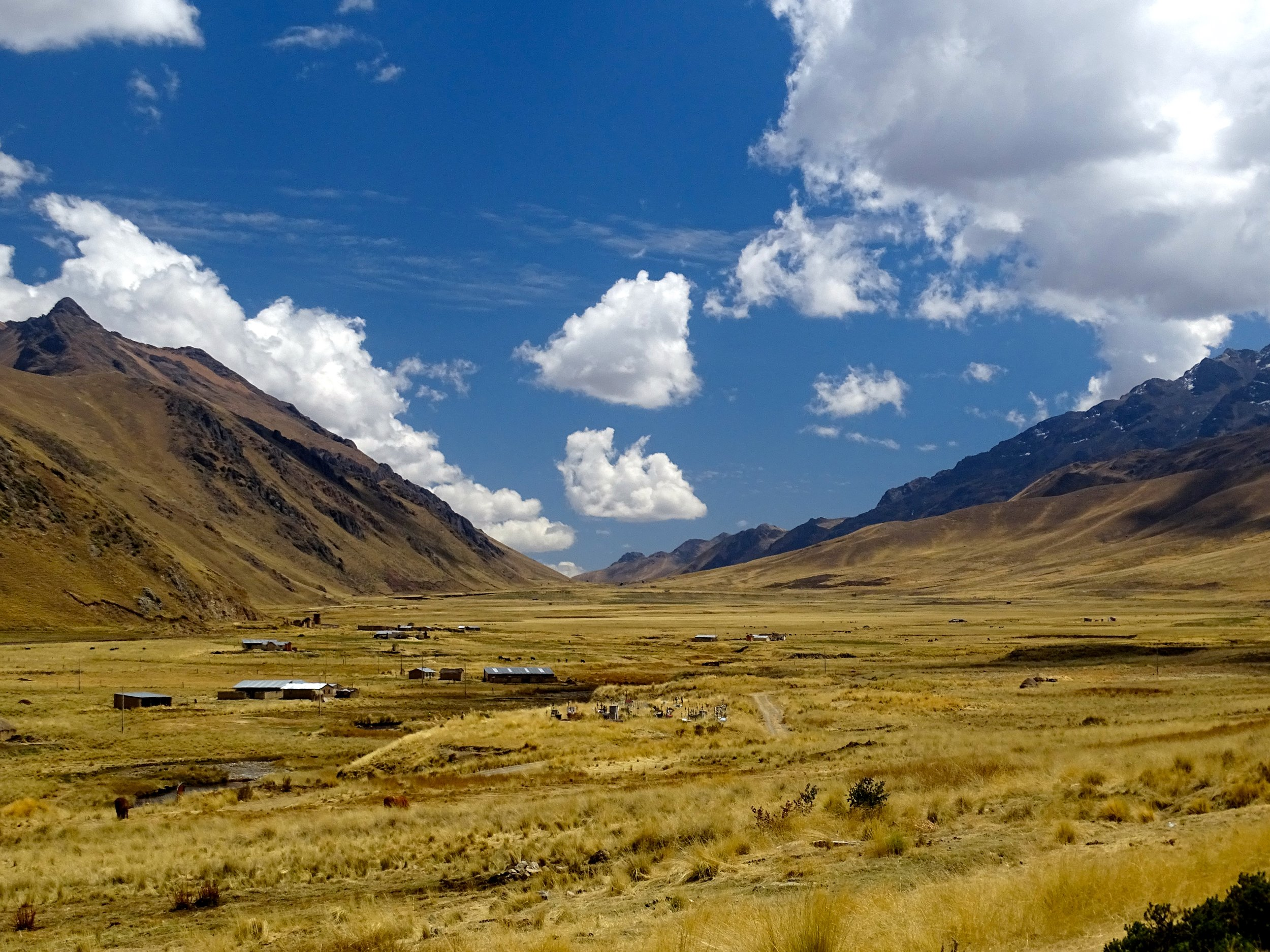 More of the ancient agricultural setting as we approach the Sacred Valley to the northwest of us.