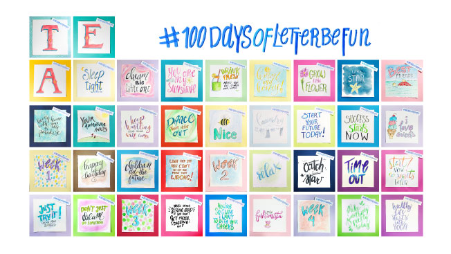 The art of a challenge. #100daysofletterbe fun. My 100 Day Project so far @twoeasels