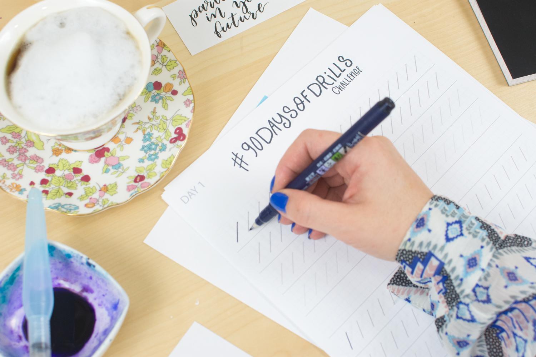 90 days of drills challenge to practice brush calligraphy