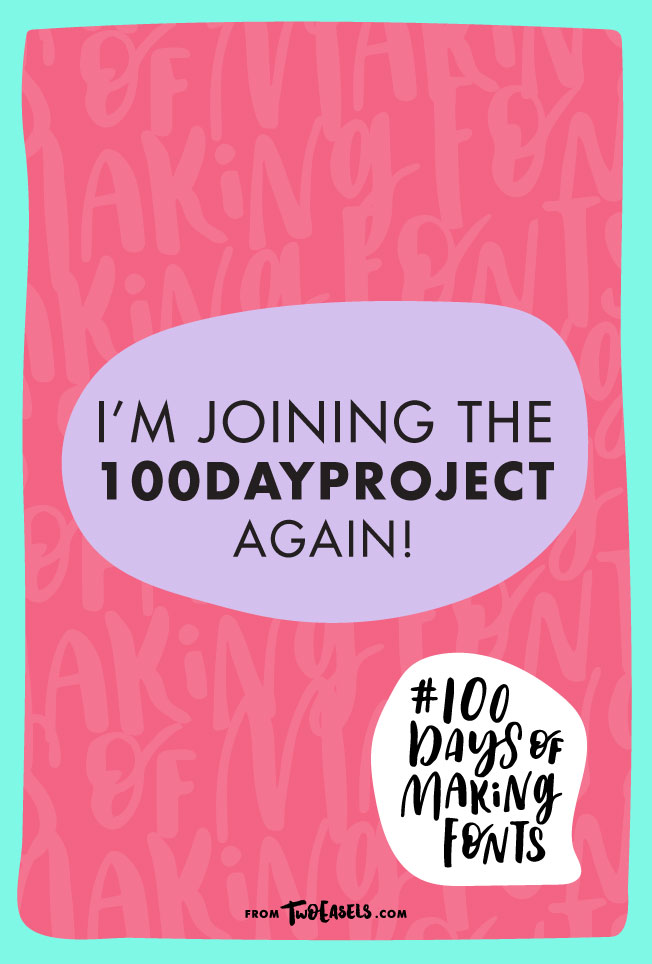 I'm joining the #100dayproject again! Are you? @twoeasels