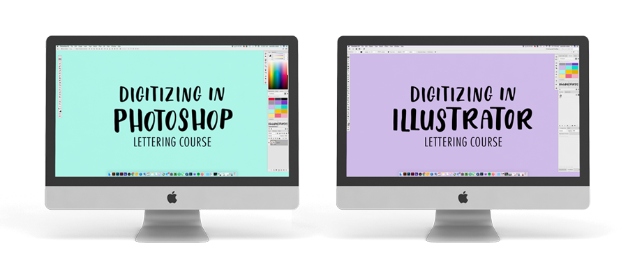 How to digitize your lettering in photoshop and illustrator bundle course