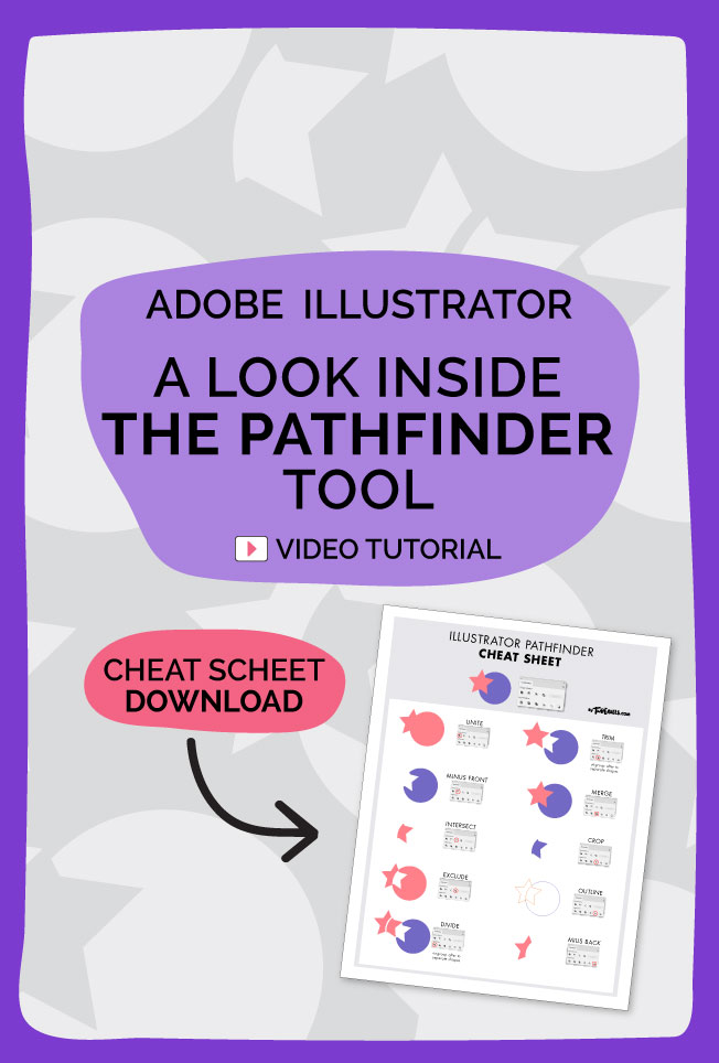 a look inside the pathfinder tool video tutorial about adobe illustrator for lettering