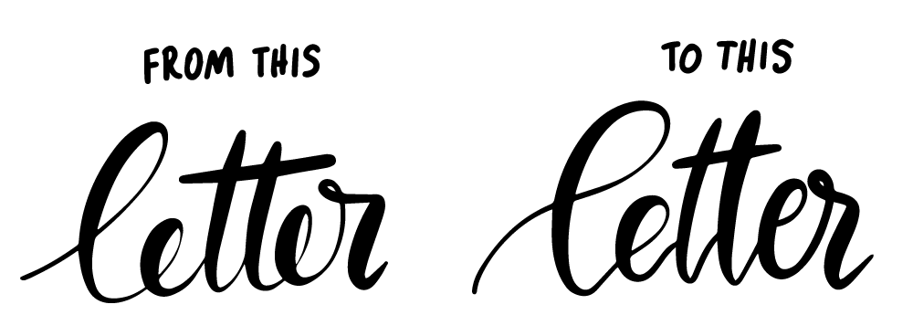 lettering connections how to connect letters