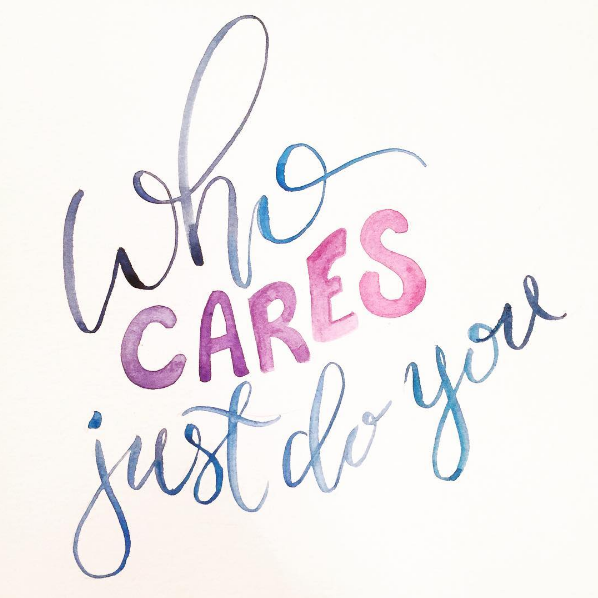 hand lettering by @twoeasels