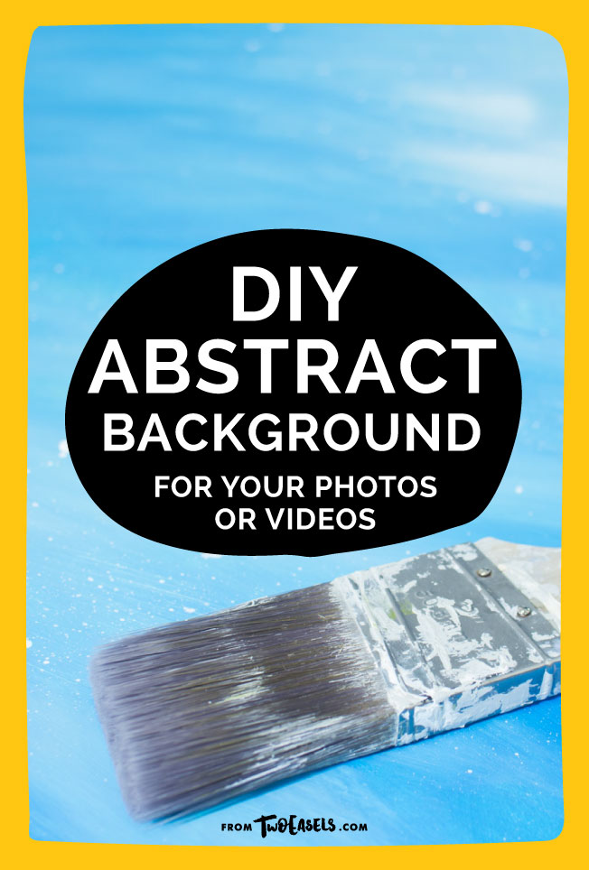 A quick diy on how to make your own abstract fun background that you can use for your pictures, lettering and videos. by TwoEasels