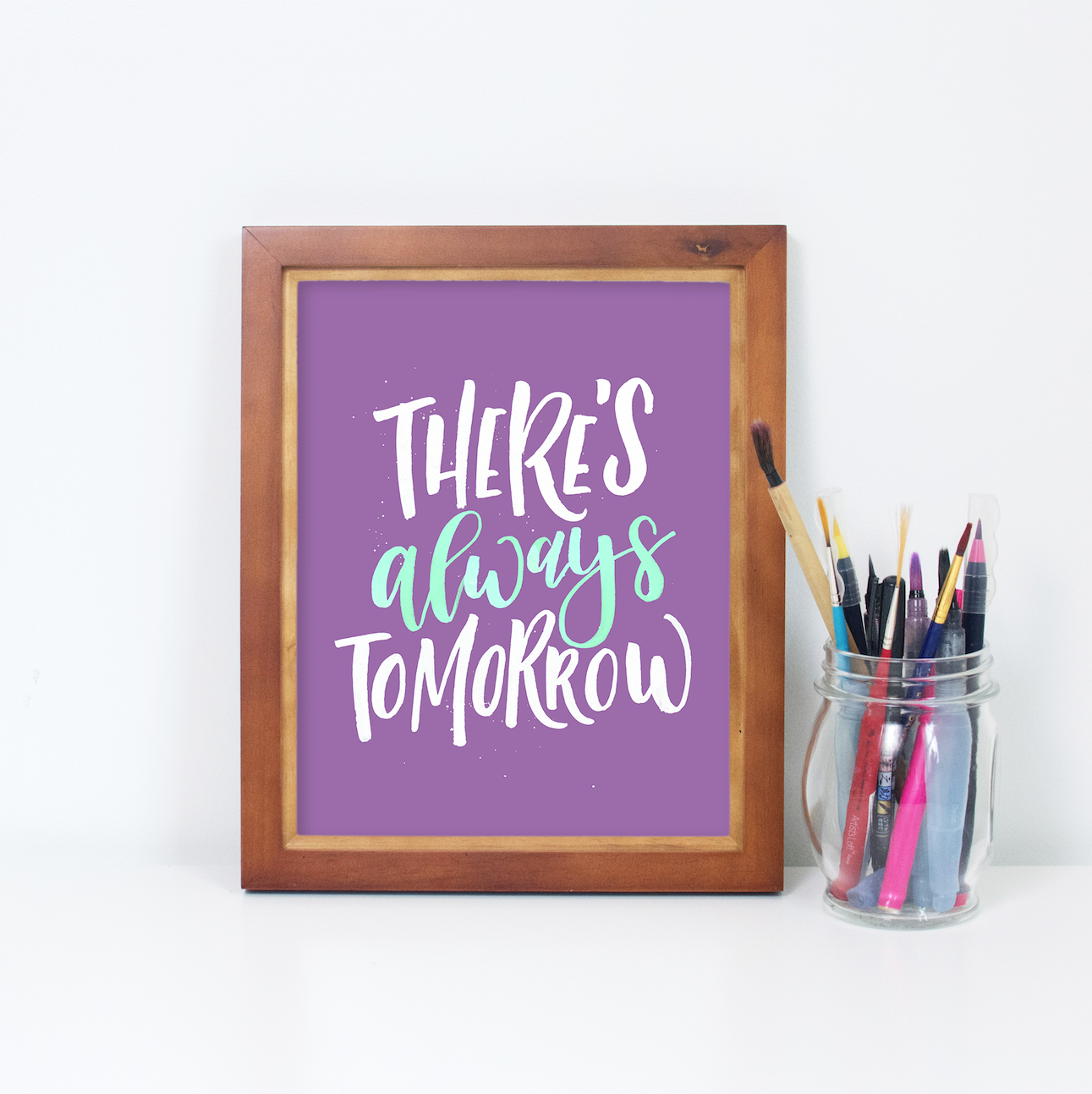 Mockup tutorial by twoeasels how to mockup your lettering inside a frame