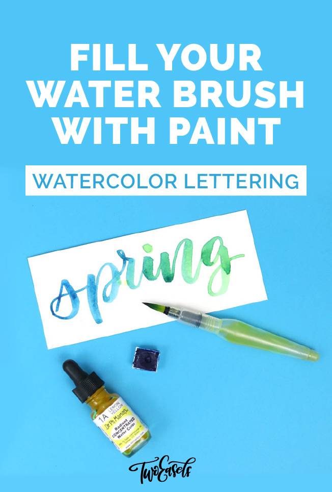 Fill your water brush with paint Video TwoEasels