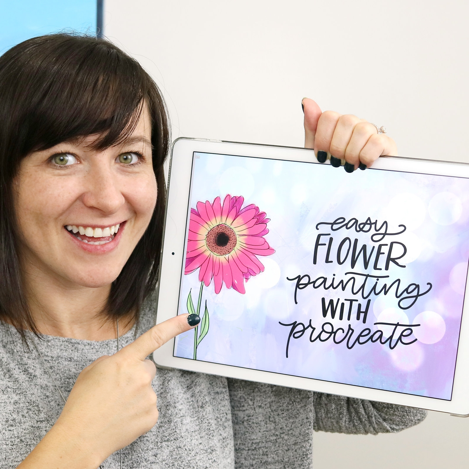 how to paint flowers in procreate class