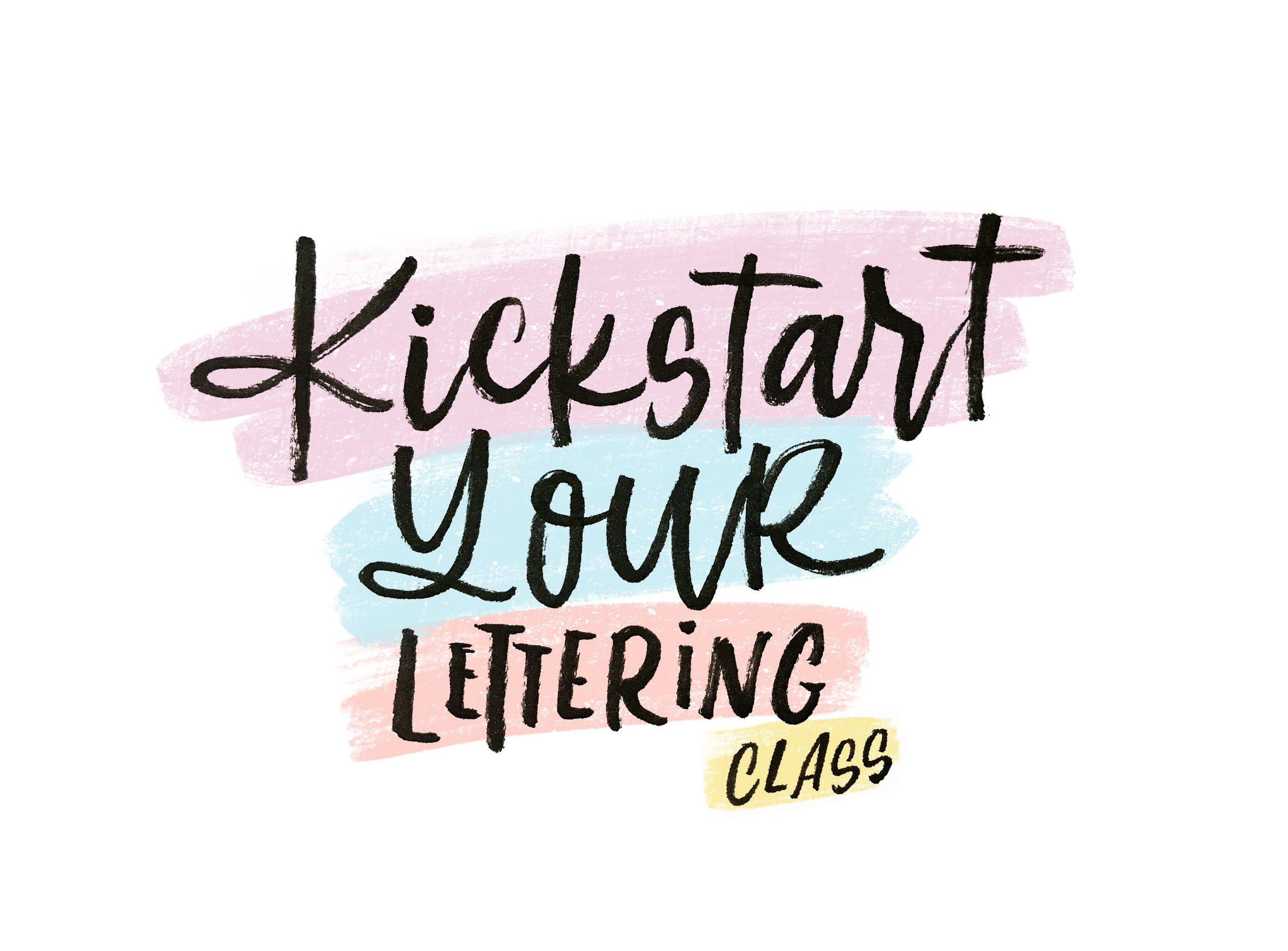 kickstart your lettering with my beginner class