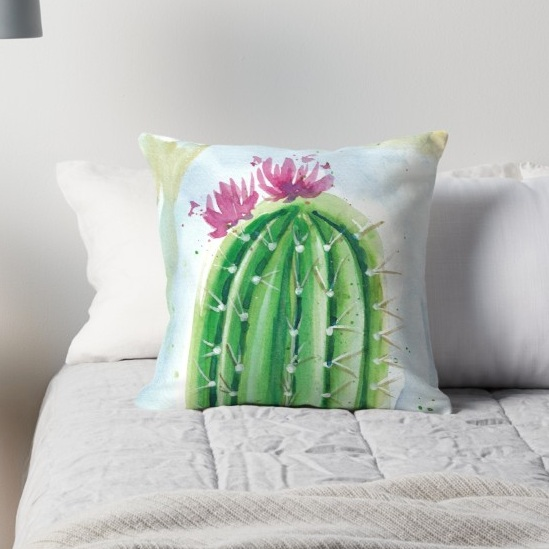 Cactus throw pillow case