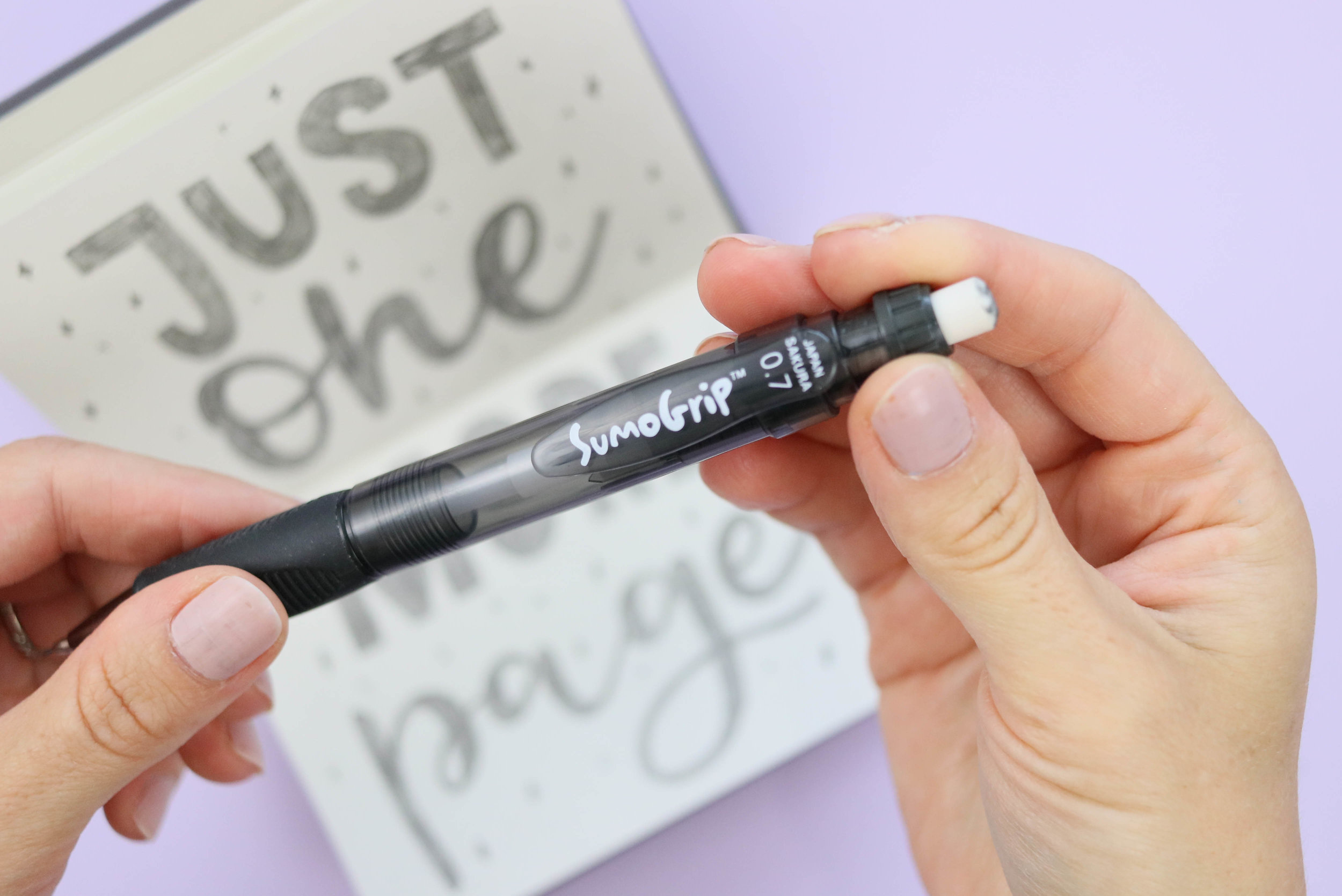 The best mechanical pencil for artists and lettering creative TwoEasels SumoGrip pencil