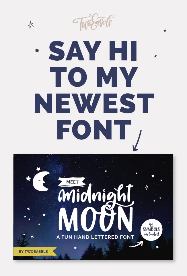 NEW-FONT-MIDNIGHT-MOON by twoeasels.com