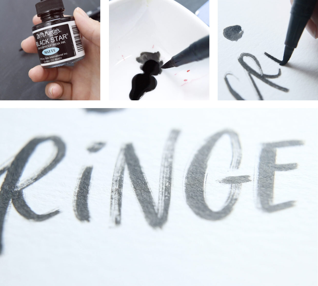 Grab ink and dip your ruined tip. Then letter with some awesome texture