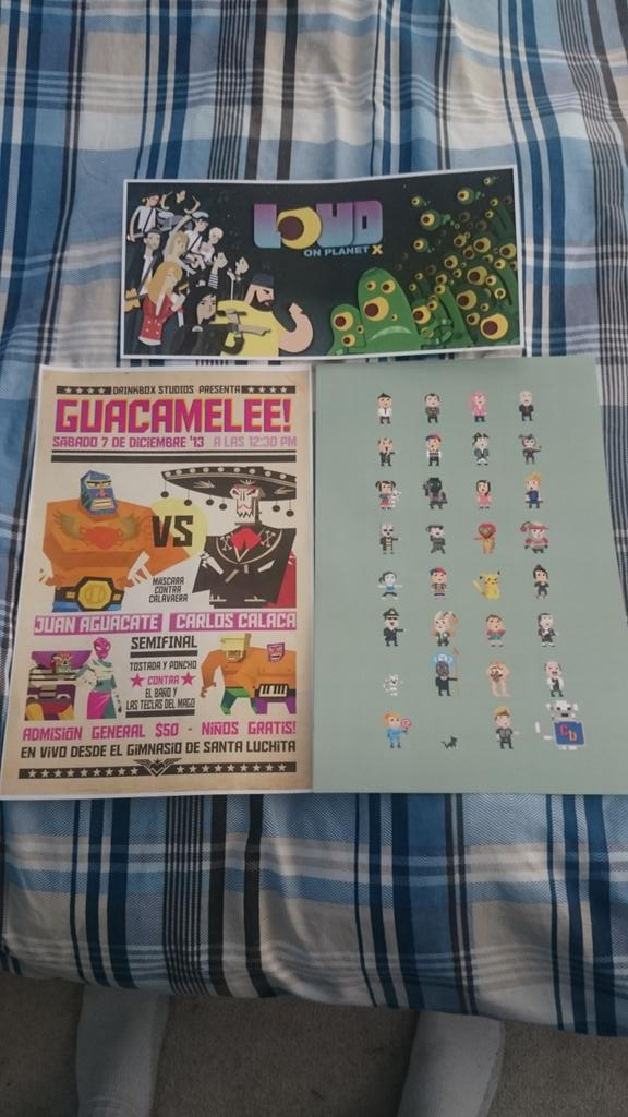 Posters from:  Loud On PlanetX , DrinkBox Studios, and  Bit The Game .