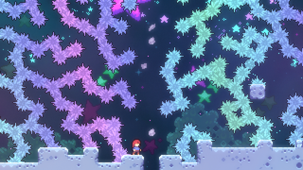 A screenshot from the new levels.