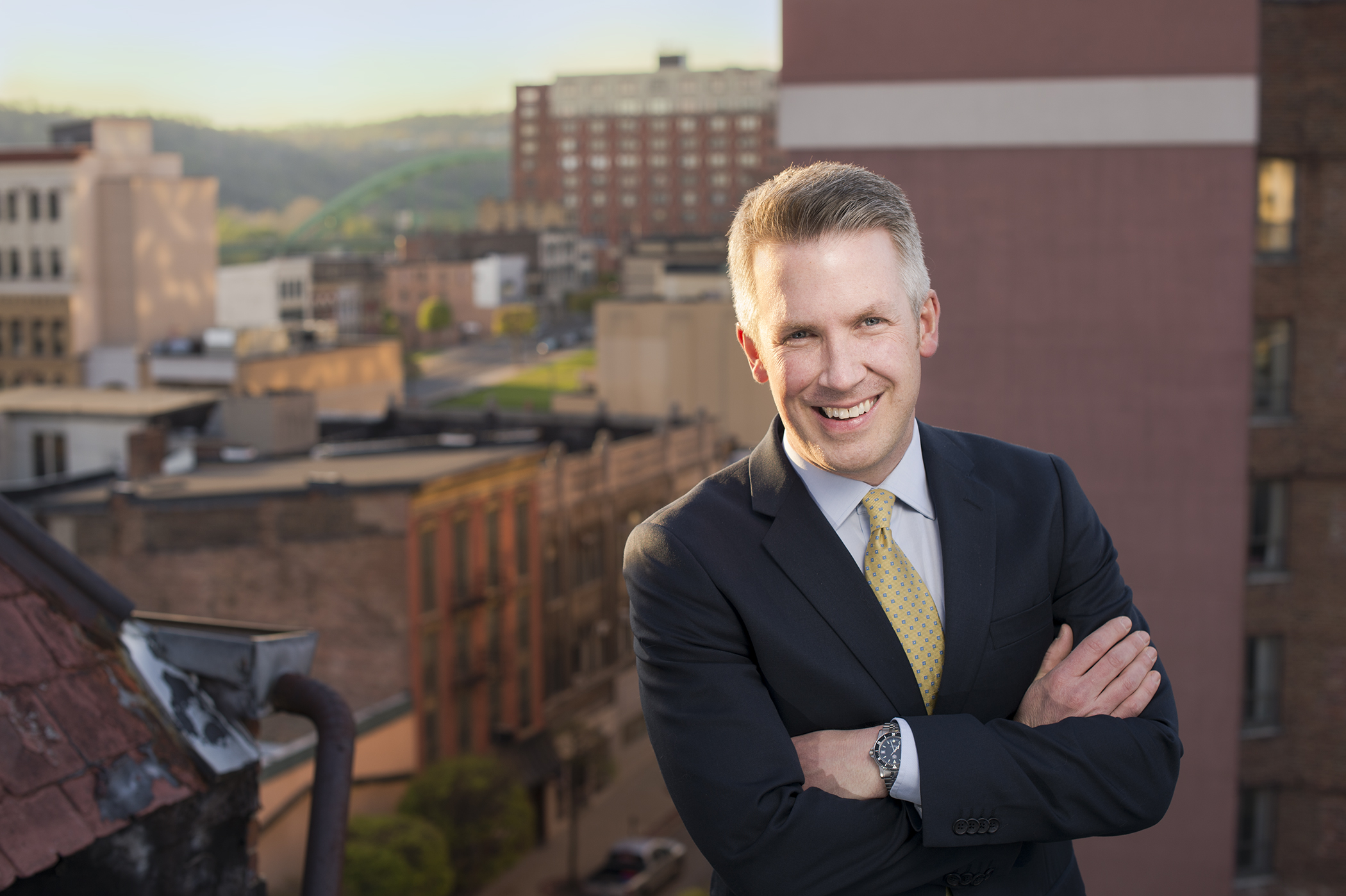 Glenn Elliott will run for Mayor of Wheeling in 2016. (Photo by Rebecca Kiger)