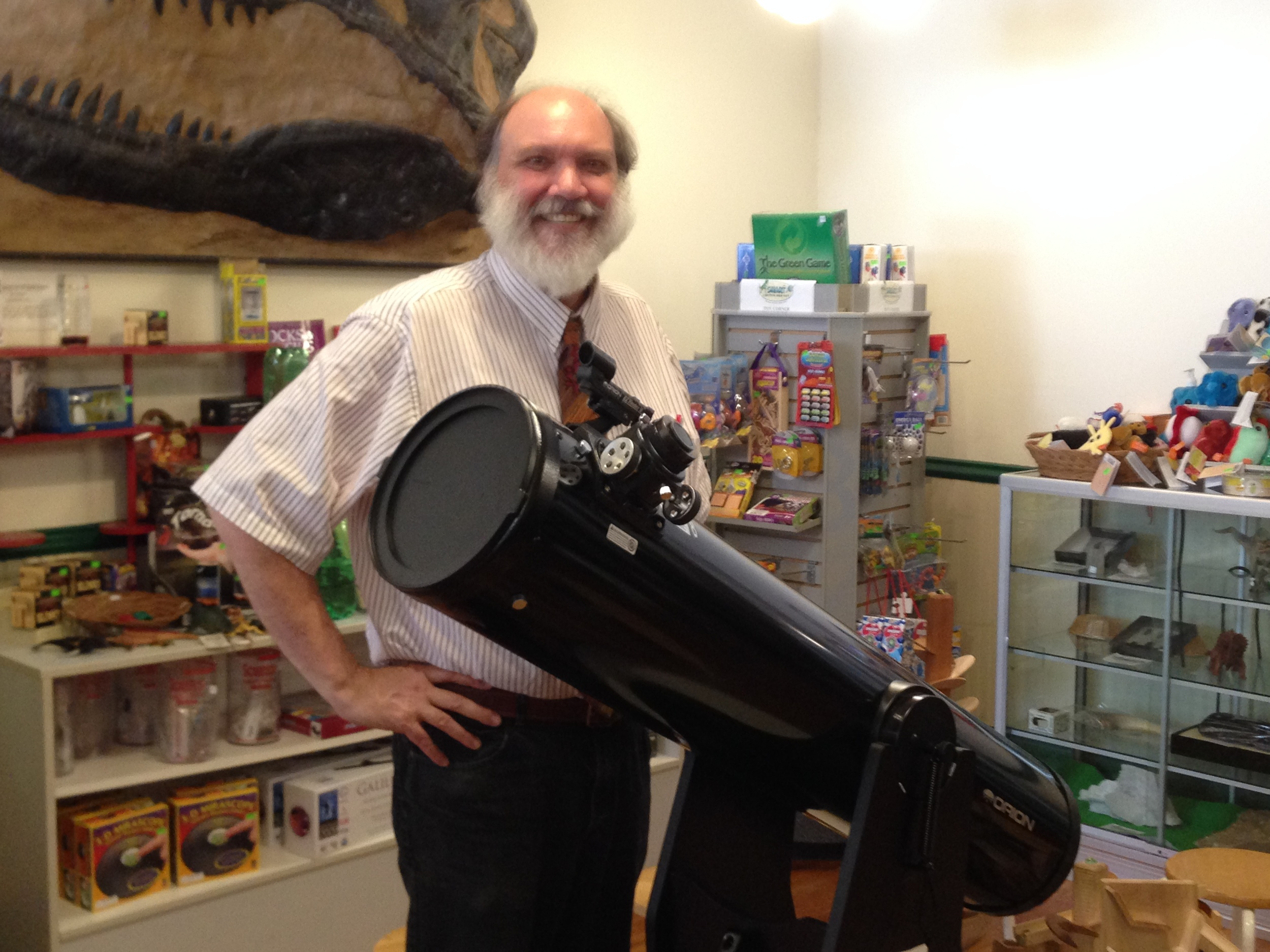 Robert E. Strong, director of the SMART Center in Centre Market, is leading an effort to establish a West Virginia chapter of the International Dark-Sky Association. The chapter, which would be dedicated to reducing light pollution and establishing a dark sky park, could tap into a new market for the state: vacationers who love to watch the heavens through their telescopes.