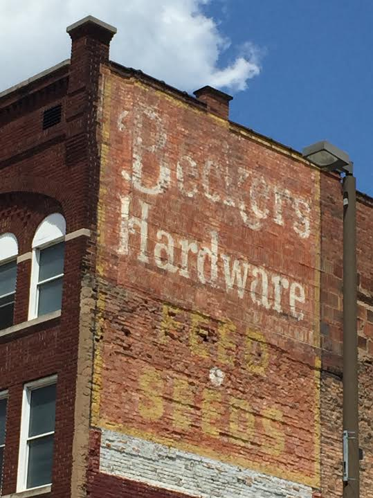 Beckers Hardware downtown once sold feed and seeds in the heart of a thriving city.