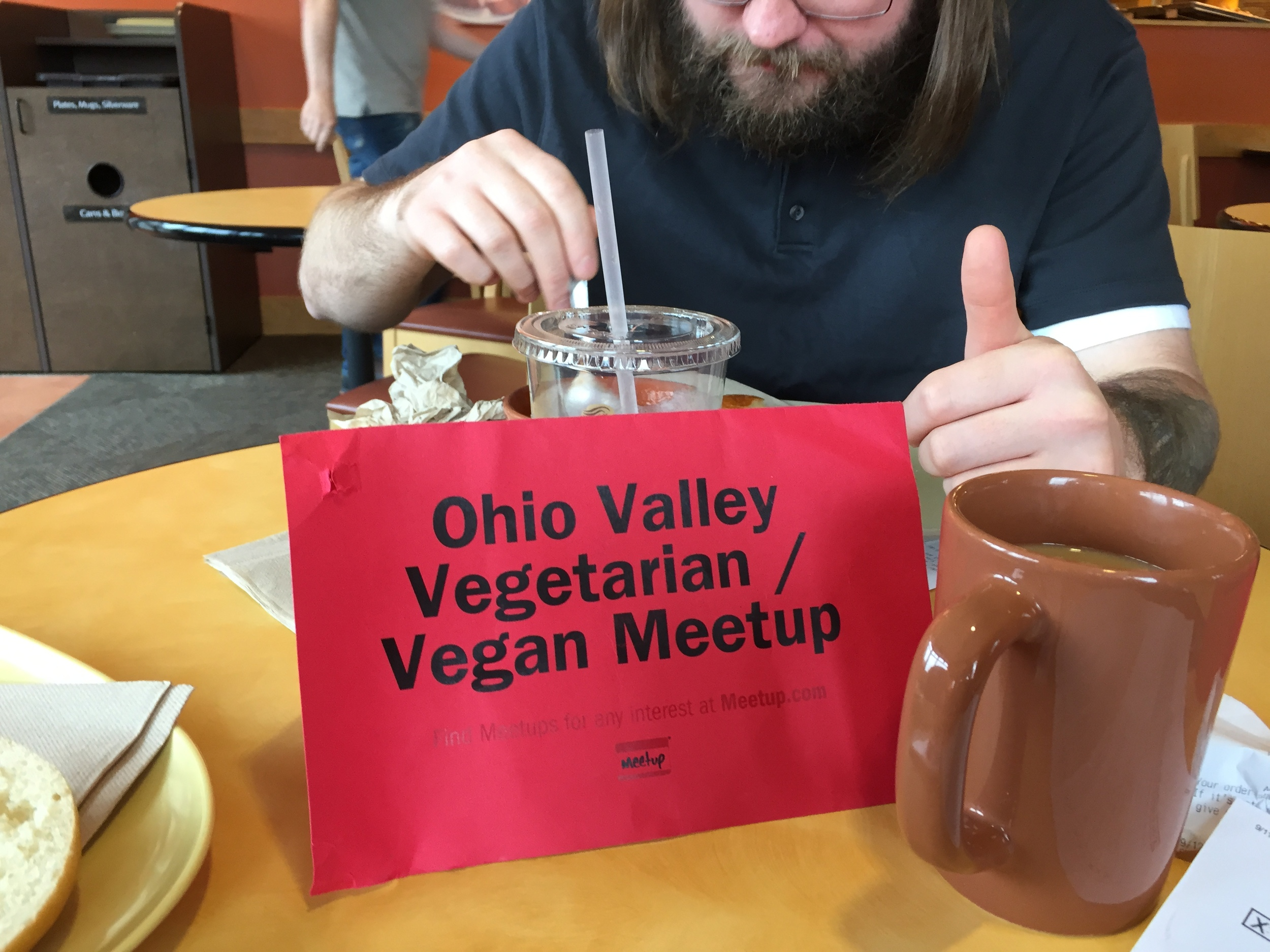 Member of the Ohio Valley Vegetarian/Vegan Meetup Club dine out regularly at restaurants about town, sampling what the area offers in the way of meatless meals.