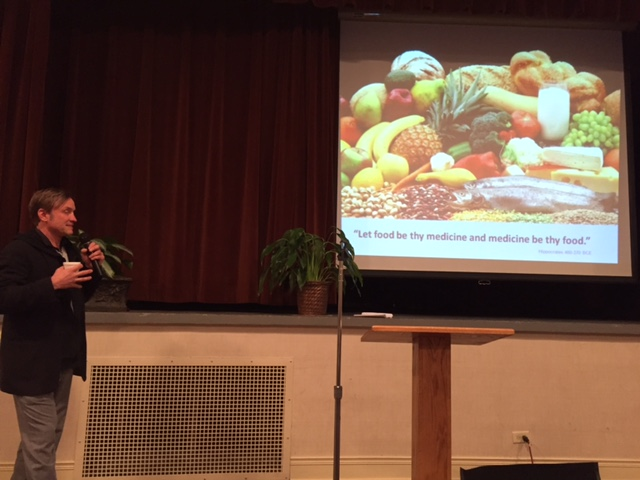 Ken Peralta quotes Hippocrates when addressing food's medicinal value.