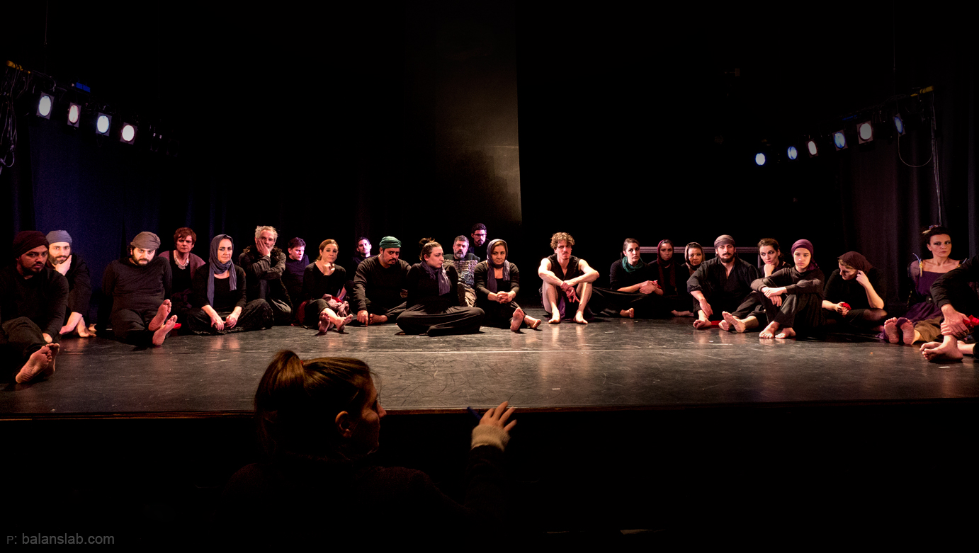 Oedipus Rex with professional and beginner actors, and participants from our Workshops.