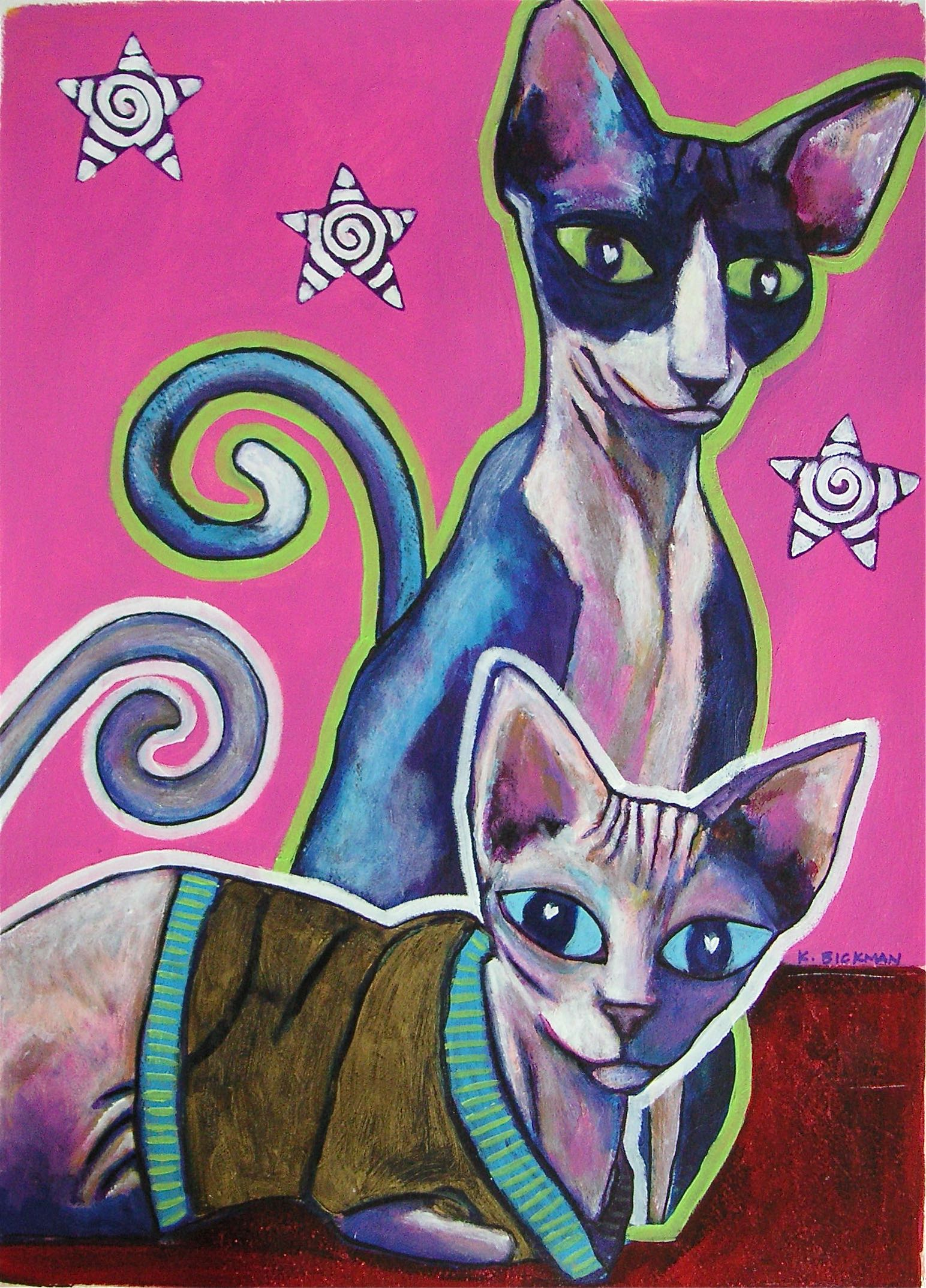 Another Bald Cat painting