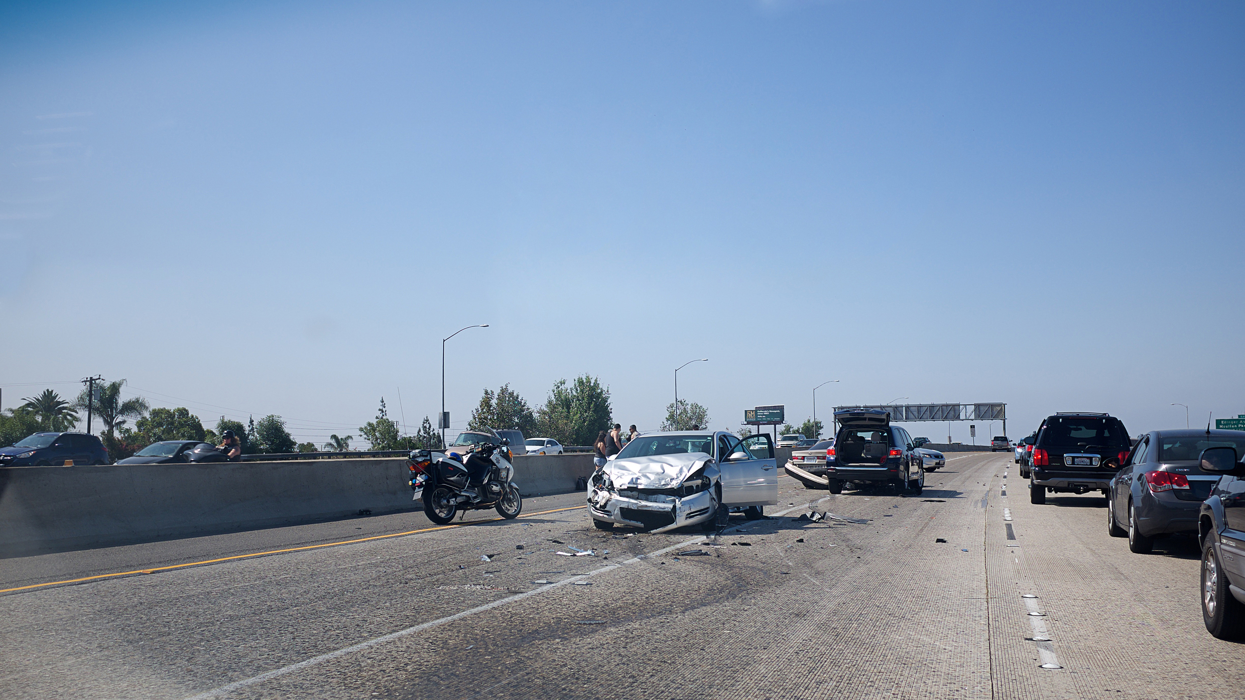Car crash on the i-55