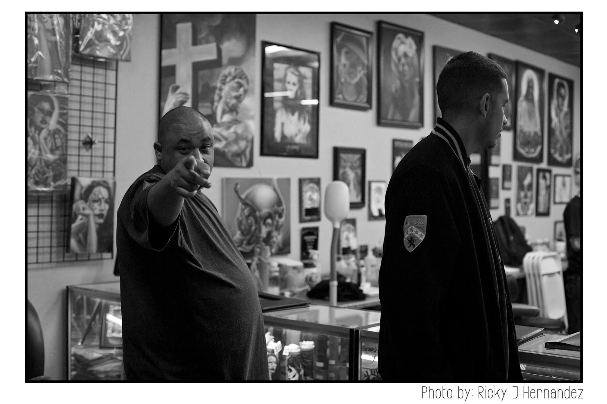 Art night at Mi Familia Tattoo Shop in Anaheim CA.