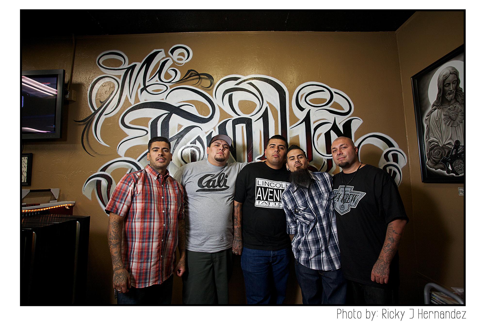 "La Familia de ""Mi Familia Tattoo""- Tattoo Shop Grand Opening"