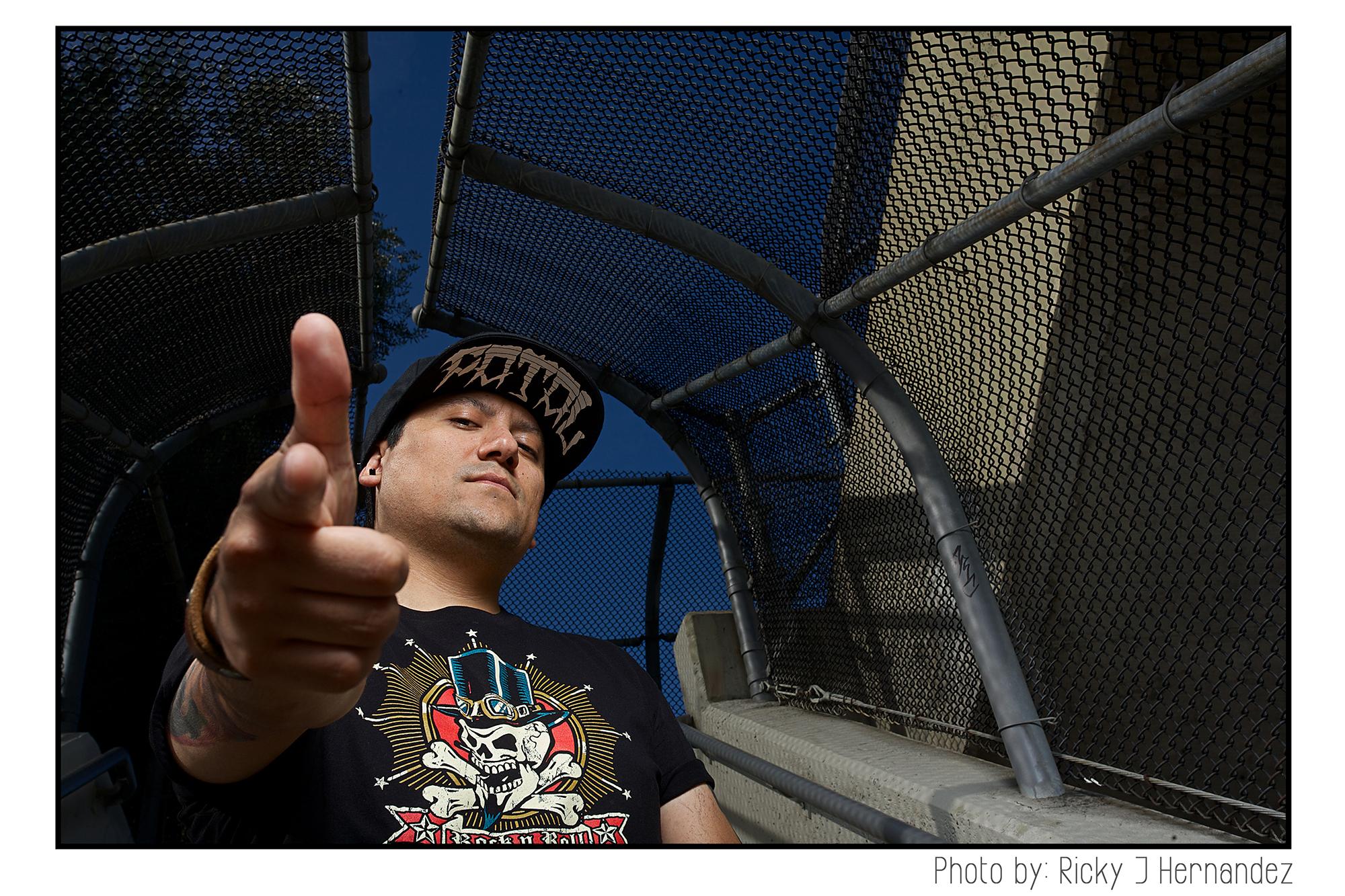 Photos for a tattoo magazine. Portraits of artist Rebel Hernandez. Tattoo & airbrush artist.