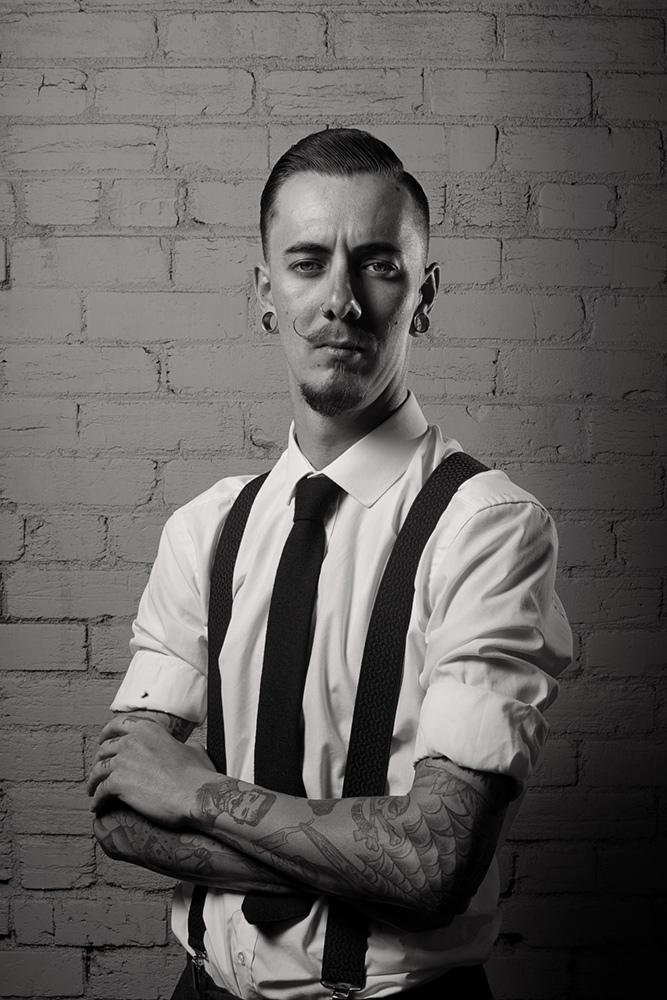 Portrait of Sam Pedder @tattooedrider