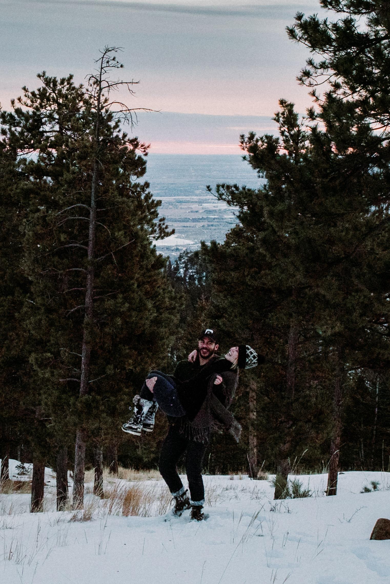 Flagstaff Mountain at Sunrise- January 2019