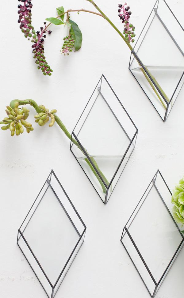 Vaso Sospeso vetro e ferro   1012Terra   Spazio Materiae   Pianta grassa, succulenta, cactus   Napoli