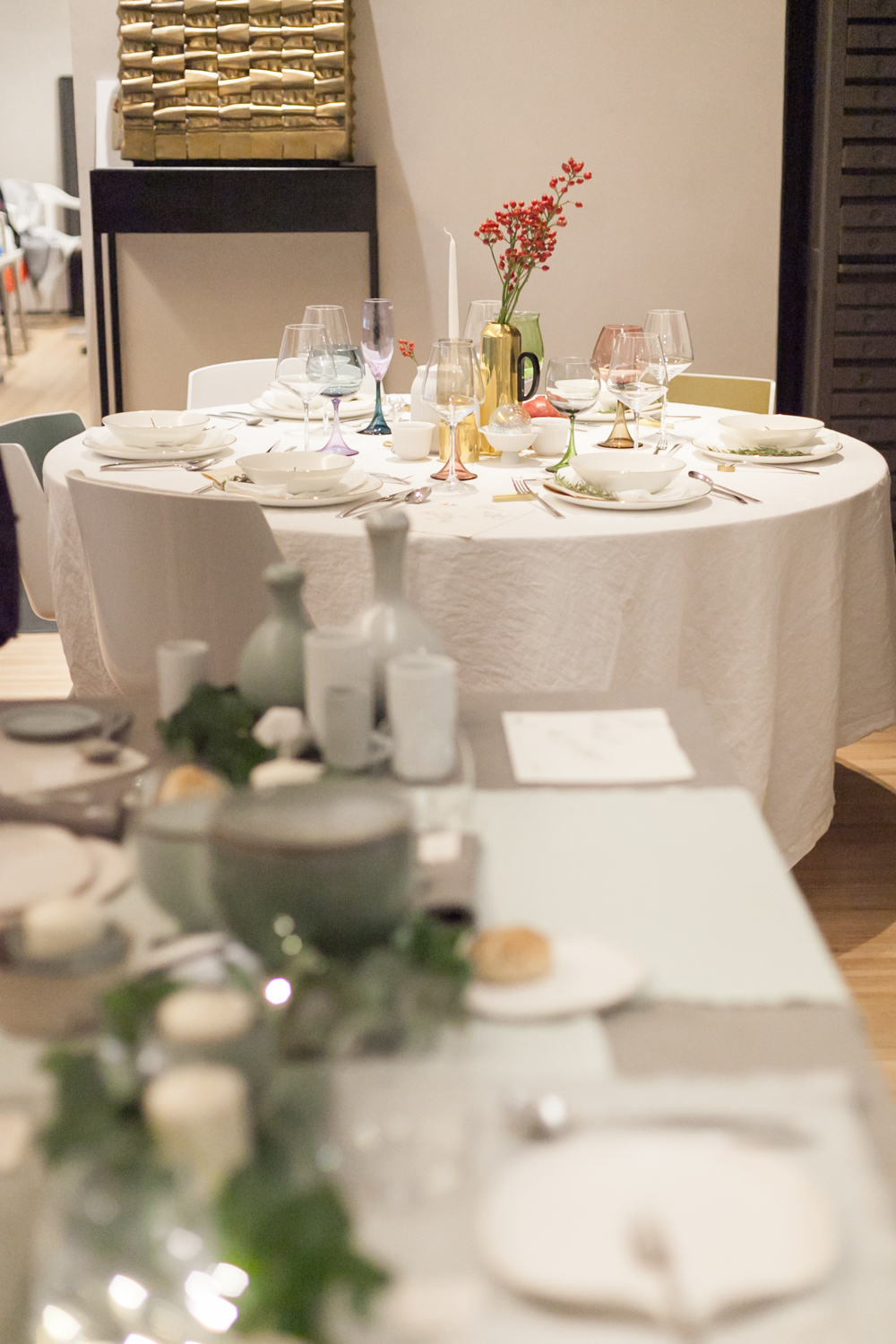 SET THE TABLE STYLING EVENTO SPAZIO MATERIAE NAPOLI FORME DI FARINA TAVOLA NATALE PHOTO (4 di 16).jpg