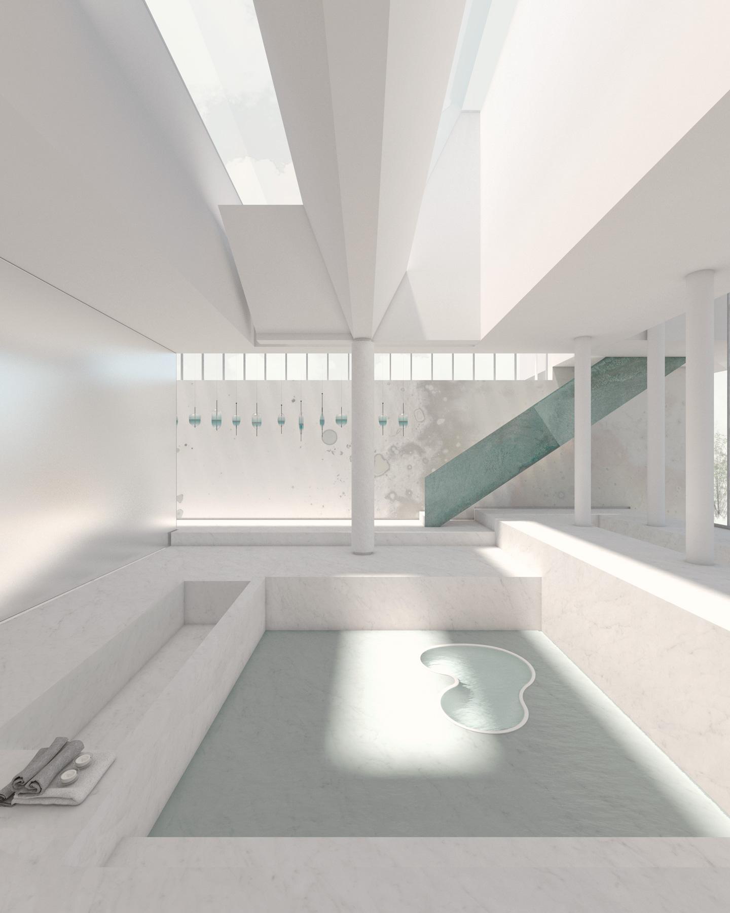 Vasche spa // Parato Calico Wallpaper _ Sospensioni Wanderglass
