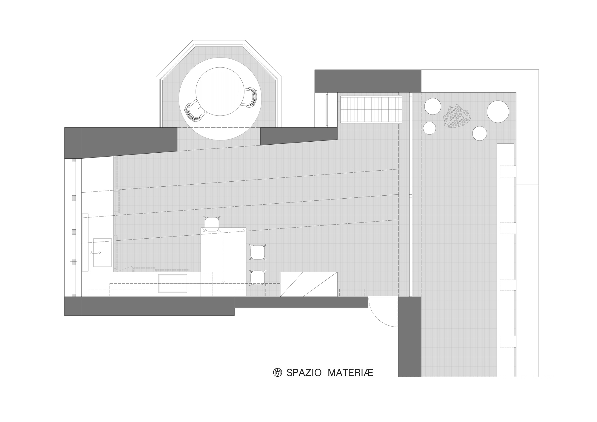 pianta loft industriale spazio materiae napoli