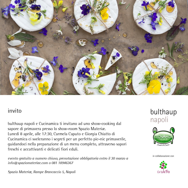 invito bulthaup napoli cucinamica picnic primavera fiori eduli napoli showcooking scuola cucina