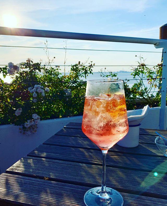 A sunset and a spritz 🍹 #nardelliottsinitaly #nardelliottsonvacay