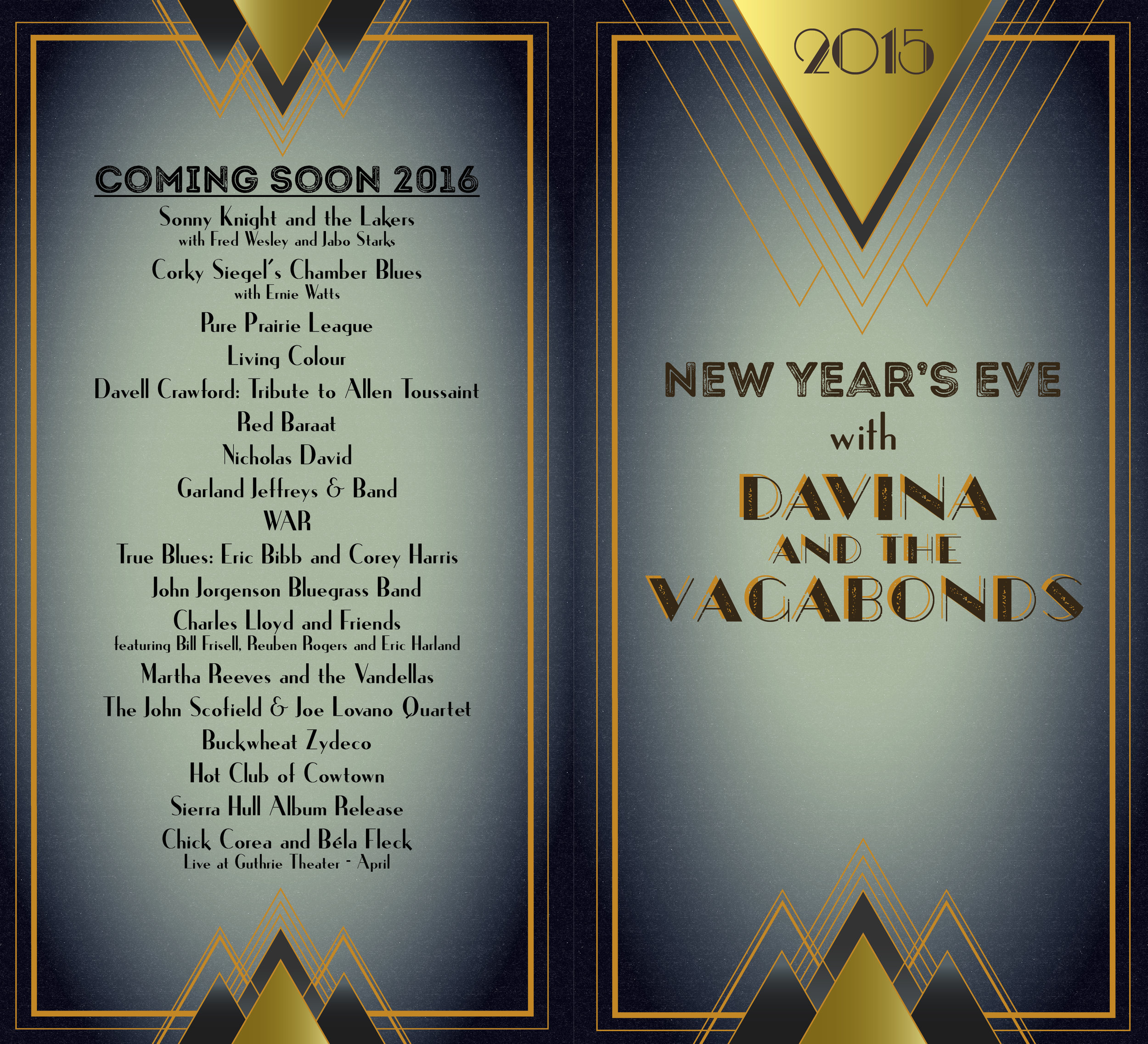 New Year's Eve Menu at The Dakota Jazz Club (1)