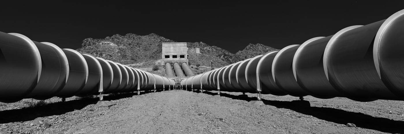 Pipes at Iron Mountain Pumping Station