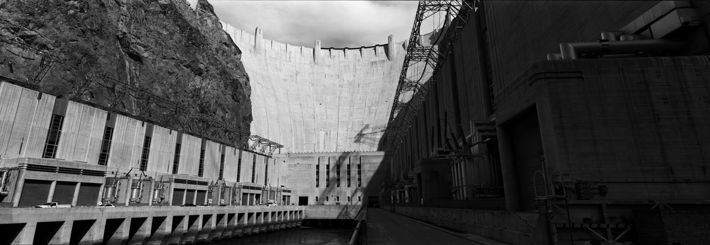 Ramps at the Hoover Dam (Panoramic)