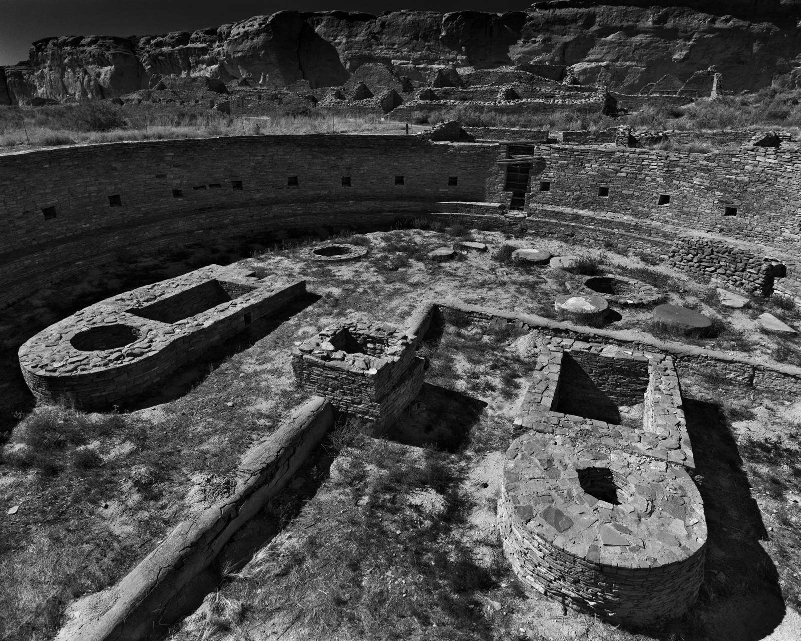 Chetro Ketl Great Kiva- Chaco Culture National Historical Park, New Mexico
